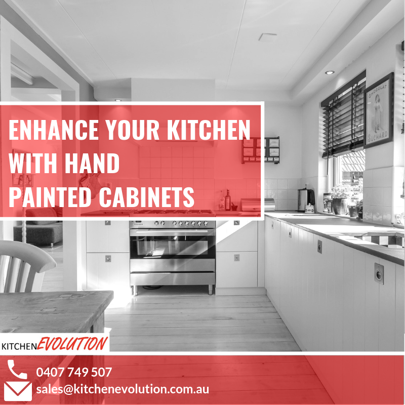 Enhance Your Kitchen With Hand Painted Cabinets